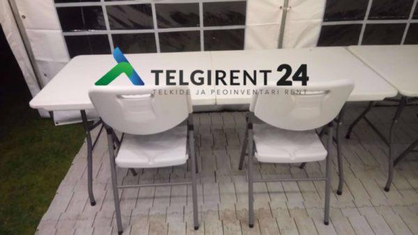 Toolide rent klapptoolide rent peoinventari rent Peotelkide rent telkide rent telgi rent valge peotelgi rent peoinventari rent Telkide rent ja paigaldus