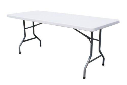 Kokkupandav laud 240 cm laadalaud klapplaud plastik kokkuklapitav laud
