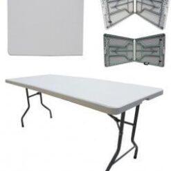 Kokkupandav laud 122cm laadalaud klapplaud plastik kokkuklapitav laud