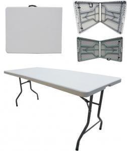 Taittopöytä 152 cm taittopöytä muovi taitettava tuoli