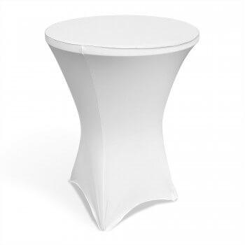 pystypöydän huppu stretch myynti valkoinen pystypöydän vuokraus kalusteen vuokraus juhlakalusteen myynti muovikalusteen vuokraus myynti