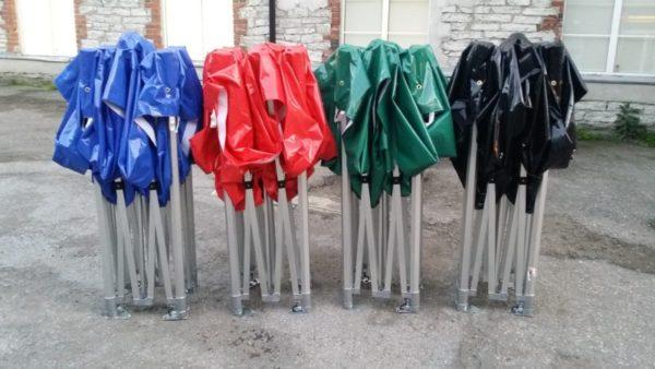 Kvaliteetsed erksavärvilised Easy-up telgid - laos üle 40 telgi kohe saadaval.