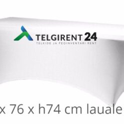 Valkoinen pöytäliina ''stretch'' 183cm pitkälle pöytälle Valkoinen pöytäliina ''stretch'' 180cm pitkälle pöytälle