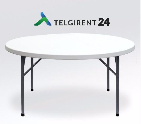 Ümmargune laud 150cm ümarlaua rent 150cm peoinventari rent laudade rent peolaudade rent ümmargune laud 150cm