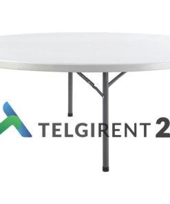 Ümmargune 180 cm laud plastikmööbli müük ümmargune laud 180cm peomööbel peoinventari rent ja müük plastikmööbel