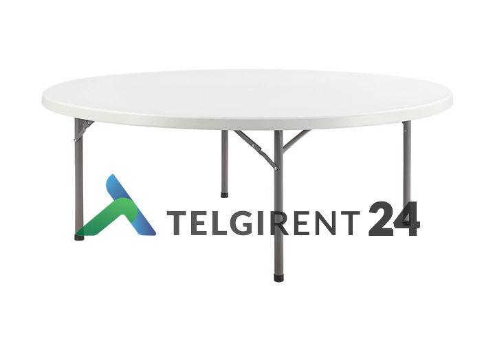 Ümmargune laud 150 cm peoinventari plastiklauad kokkupandavad lauad 150cm ümmargune laud 150cm