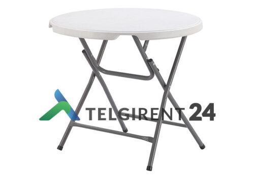 Ümmargune laud 80cm peoinventar plastiklauad kokkupandavad lauad 80cm ümmargune laud 80cm
