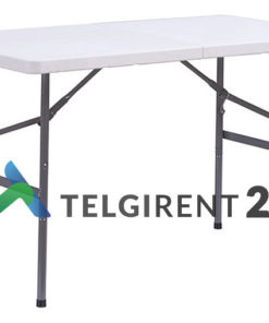 Kokkupandav laud 120cm kokkupandav plastiklaud 120cm plastikmööbel peoinventari rent peoinventari müük kokkupandava laua müük