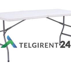 Kokkupandav laud 180cm 183cm plastik kokkupandav plastiklaud 180m peoinventari rent 183cm plastikmööbel