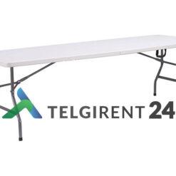 Kokkupandav laud 240cm plastik kokkupandav plastiklaud 240cm peoinventari rent plastikmööbel