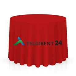 Laudlina 280cm punane ümmargune laudlinade rent peoinventari rent laudlinad punanee laudlina 280cm ümmarguste laudlinade rent