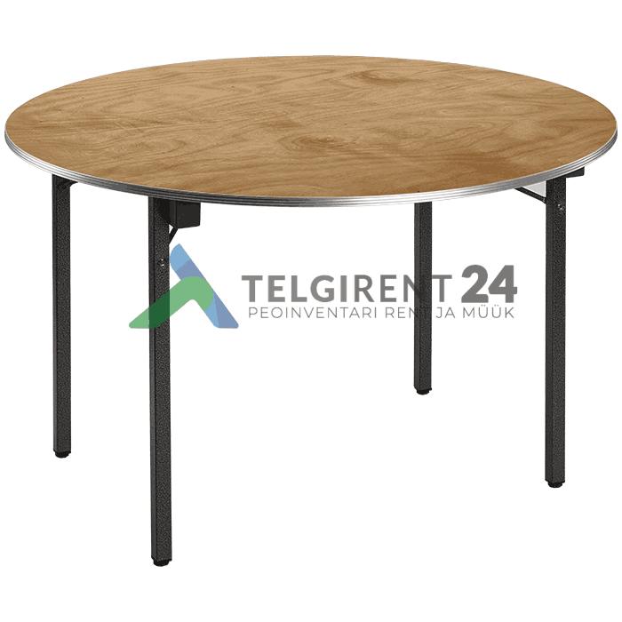 ümmargune laud 122cm puidust peomööbli müük peolaudade müük ümmargune laud 120cm müük