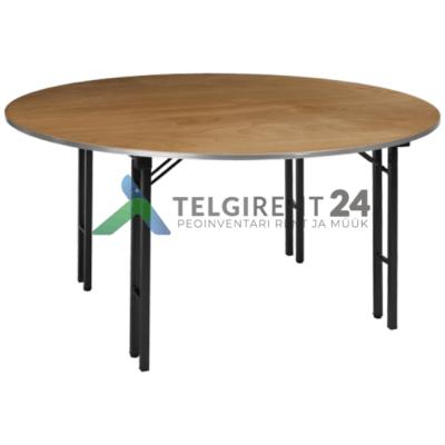 ümmargune laud 150cm puidust peomööbli müük peolaudade müük ümmargune laud 150cm müük peomööbli müük